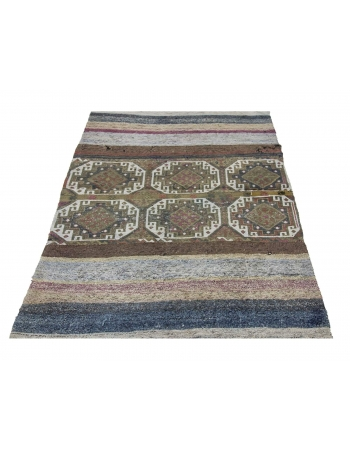 Decorative Vintage Unique Kilim Rug