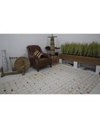 Vintage Striped Turkish Cotton Kilim Rug
