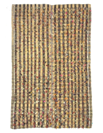 Vintage Decorative Turkish Filikli Kilim Rug