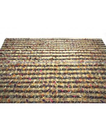 Vintage Decorative Turkish Filikli Kilim Rug