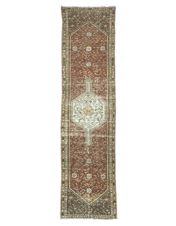 Distressed Antique Persian Malayer Runner