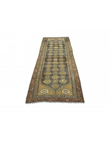 Antique Washed Out Persian Runner