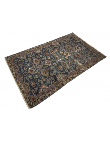 Distressed Floral Turkish Kaisari Rug