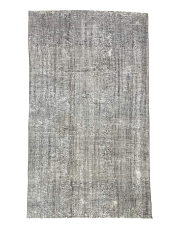 Gray Overdyed Vintage Turkish Carpet