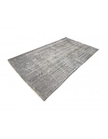 Gray Overdyed Vintage Turkish Carpet