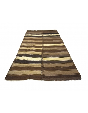 Brown Vintage Natural Kilim Rug