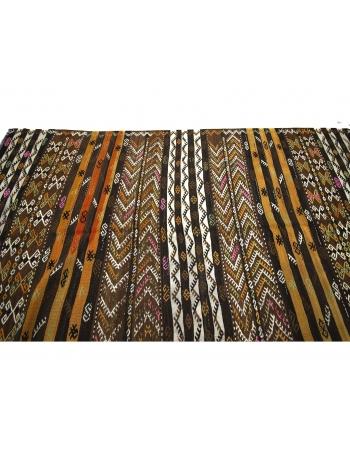 Embroidered Unique Vintage Kilim Rug