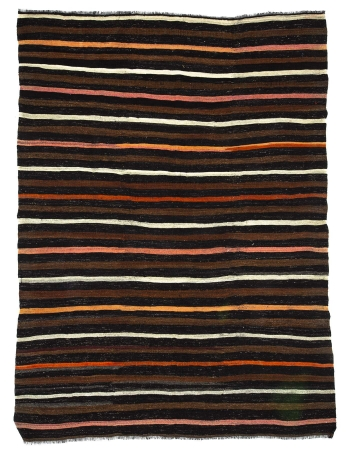 Striped Vintage Goat Hair Kilim Rug