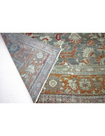 Oversized Antique Distressed Persian Mahal Rug