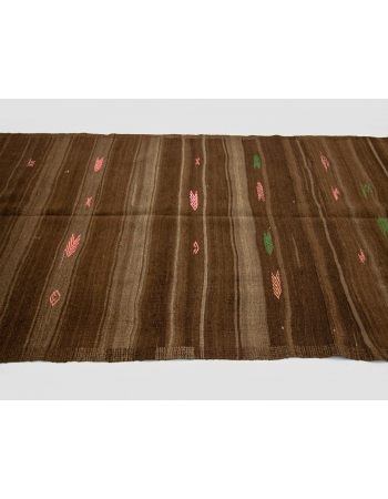 Brown Vintage Decorative Kilim Rug