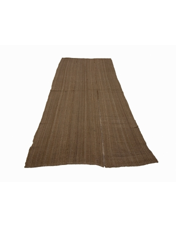 Plain Natural Brown Vintage Wool Kilim