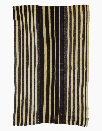 Vertical Striped Vintage Kilim Rug