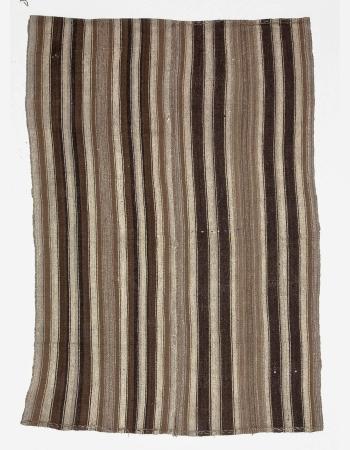 Vintage Natural Brown Modern Kilim Rug