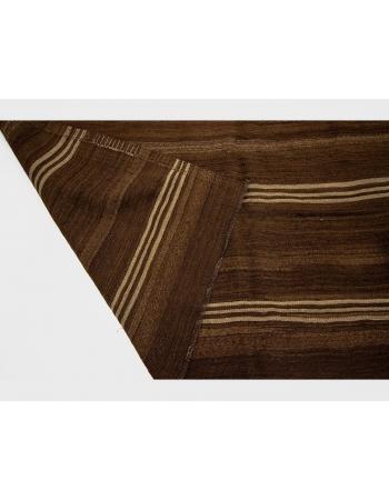 Brown Vintage Natural Wool Kilim Rug