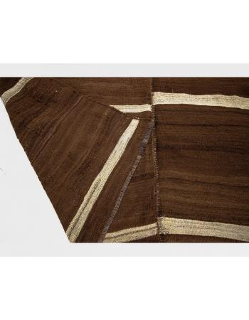 Natural Brown Vintage Turkish Wool Rug