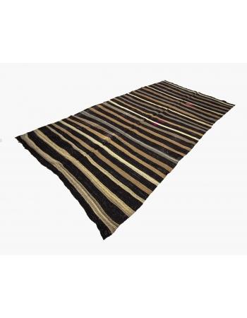 Striped Unique Vintage Kilim Rug