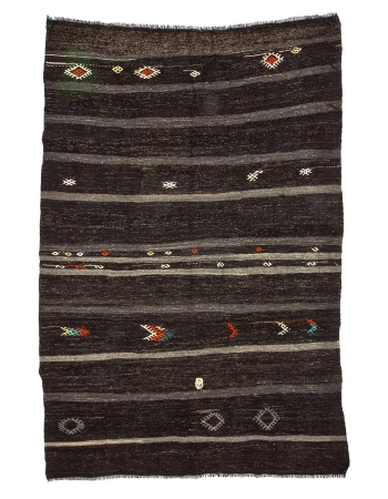 Vintage Striped Modern Kilim Rug