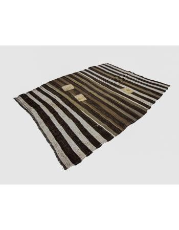 One of a Kind Vintage Striped Kilim RUg