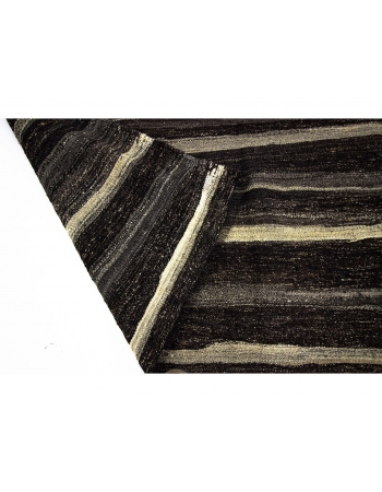Striped Vintage Brown Kilim Rug