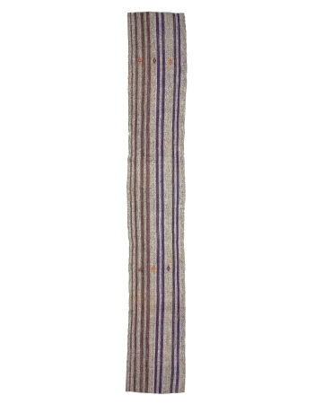 Vertical Striped Long Turkish kilim Runner Rug