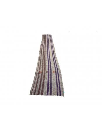 Vertical Striped Long Turkish kilim Runner Rug