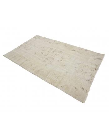 "Washed Out Vintage Turkish Carpet - 4`0"" x 6`9"""