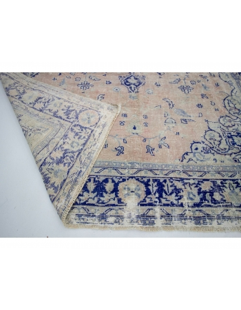 "Large Vintage Washed Out Oushak Rug - 8`3"" x 11`6"""