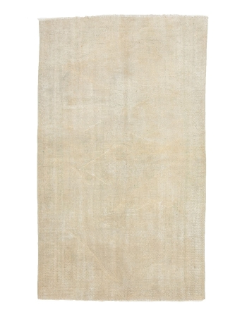 "Distressed Washed Out Vintage Rug - 4`9"" x 7`10"""