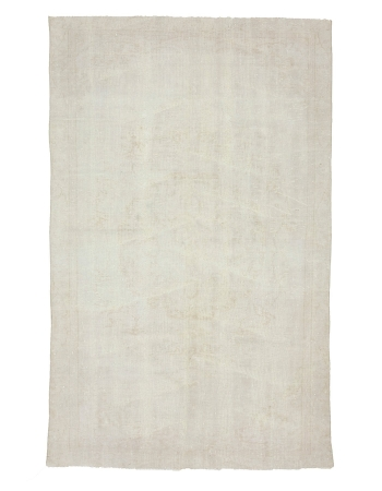 "Washed Out Turkish Vintage Rug - 5`9"" x 9`4"""