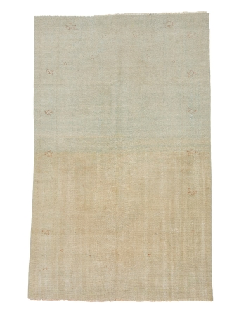 "Faded Vintage Turkish Oushak Rug - 5`10"" x 9`5"""