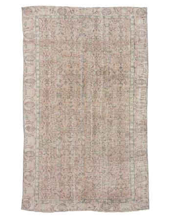 """All Over Designed Vintage Turkish Carpet - 5`10"""" x 9`5"""""""