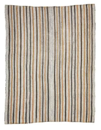 "Striped Modern Vintage Kilim Rug - 6`11"" x 8`10"""