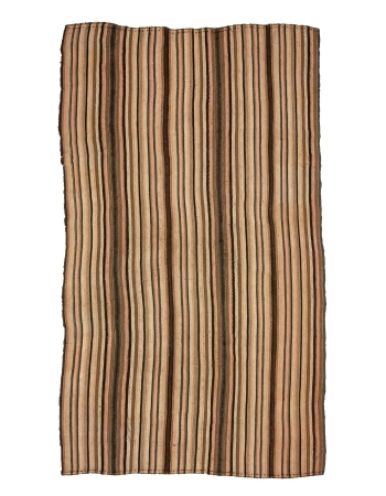 "Striped Vintage Turkish Kilim Rug - 6`3"" x 10`8"""