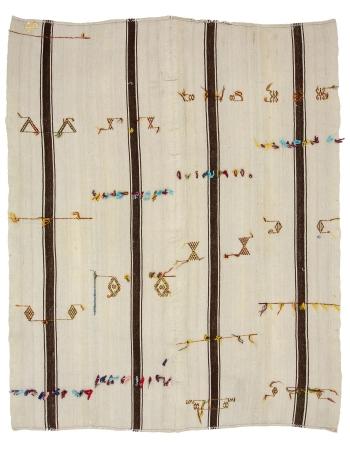 """Modern Vintage Turkish Kilim Rug - 6`8"""" x 7`10"""""""
