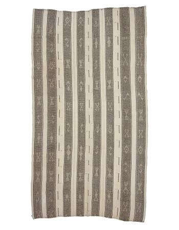 "Large Modern Vintage Kilim Rug - 6`11"" x 12`6"""