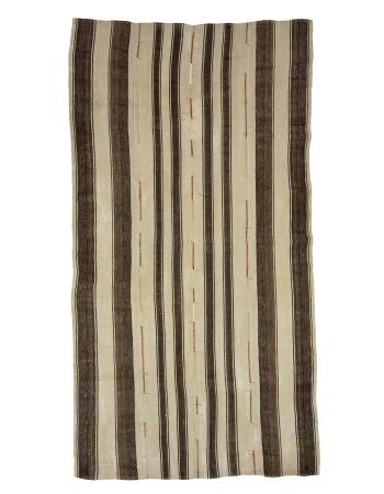"Striped Vintage Turkish Kilim Rug - 5`9"" x 10`8"""