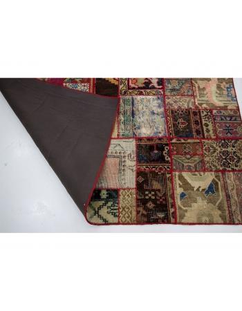 """Colorful Vintage Turkish Patchwork Rug - 5`9"""" x 8`0"""""""