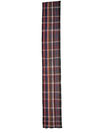 """Long Vintage Handwoven Kilim Runner - 3`4"""" x 23`0"""""""