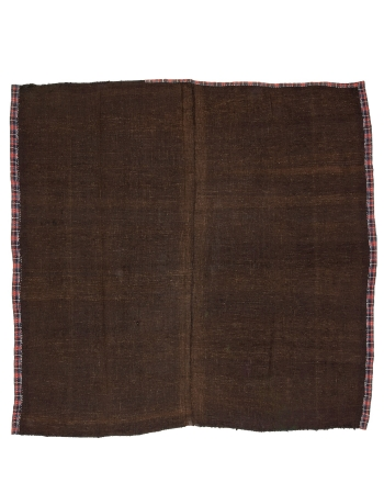 "Square Brown Vintage Kilim Rug - 9`6"" x 10`3"""