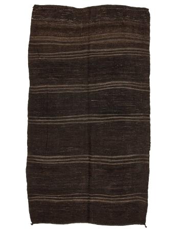 "Brown Vintage Handwoven Kilim Rug - 5`7"" x 9`8"""