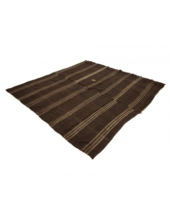 "Square Vintage Brown Kilim Rug - 8`4"" x 8`4"""