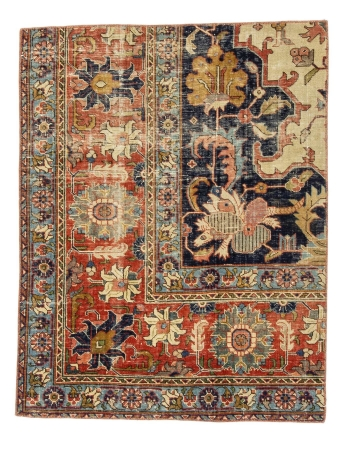 "Vintage Small Rug / Door mat - 2`11"" x 3`9"""