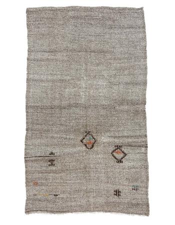 "Gray Vintage Modern Kilim Rug - 5`9"" x 9`10"""