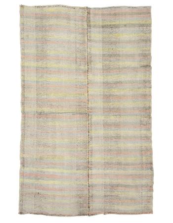 "Modern Vintage Striped Kilim Rug - 6`5"" x 10`0"""