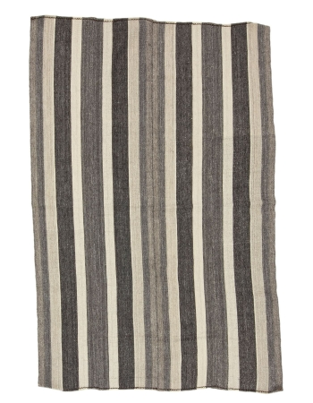 "Striped Vintage Modern Kilim Rug - 4`11"" x 7`9"""