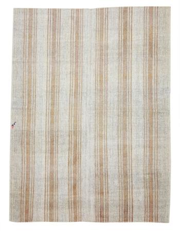 "Striped Vintage Turkish Kilim Rug - 7`1"" x 9`4"""