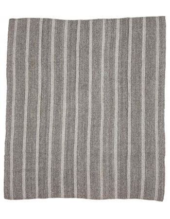 "Large Vintage Gray Kilim Rug - 9`4"" x 10`4"""