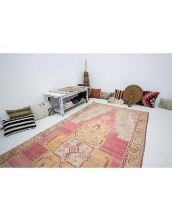 "Vintage 1960's Turkish Wool Konya Rug - 5`1"" x 12`0"""