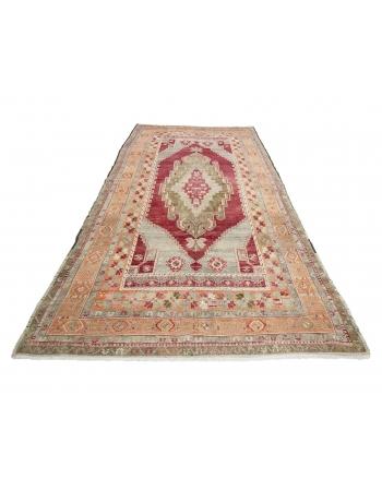 "Vintage Wool Turkish Konya rug - 5`7"" x 10`6"""