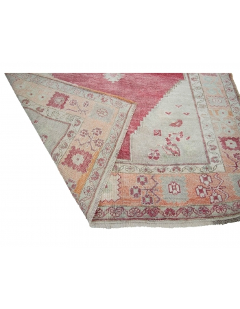 "Wool Vintage 1960's Turkish Konya Rug - 5`6"" x 9`2"""